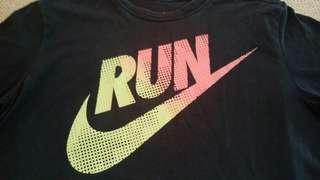 🚚 Nike Run 黑色短袖Logo T shirt 運動T shirt