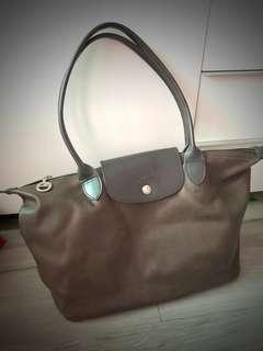 Authentic Longchamp Leather Bag 真皮Long champ長柄袋