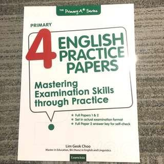 Brand New! Master examination Skill though Practice. English practice Paper Primary 4. Your guide to getting a A*star! For PSLE solid foundation