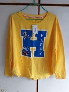 全新黃色長袖衫