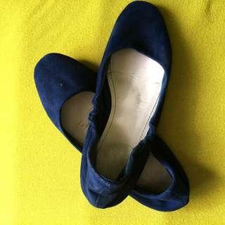 Primadonna doll shoes (Velvet blue)