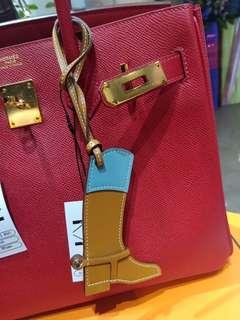 Hermes boots charm