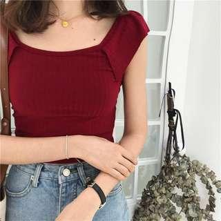 🚚 #834 Simple Korean Styled Loose Arms Slim Fit Camisole
