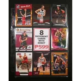 Kevin Love NBA Champion 8 Different Basketball Cards