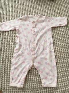 Uniqlo newborn baby long sleeve one piece outfit - Pajama
