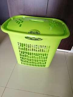 Sale laundry basket green 85rb