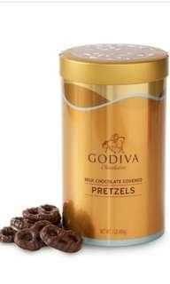 GODIVA 牛奶朱古力蝴蝶餅(Milk Chocolate Pretzel) 454g