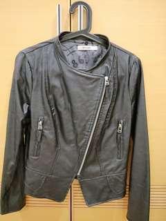 🚚 歐美時尚黑機車皮外套M號