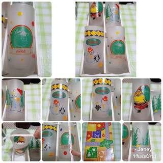 X'mas Coca Cola Glass 1 set