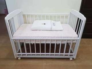 Baby bed with free gift ( all good condition) like new