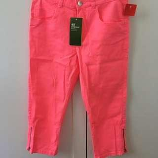 H&M 3/4 coloured jeans