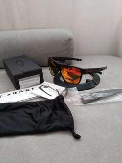 Oakley crossrange xl oo9360-1258 matte black prizm ruby lens
