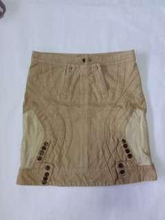 """Club21 Under cover skirt with leather (waist 30"""", hip 36"""")"""