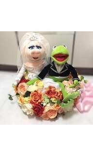 心型吸盤車花 wedding car decoration for dolls