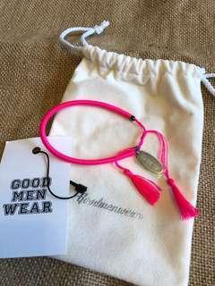 日製 GMW Pink 索繩手繩 One Size