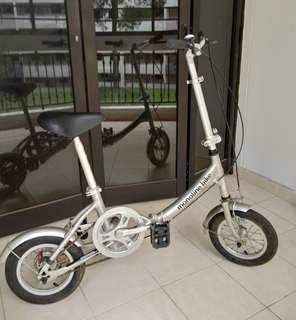 Foldable bike bicycle Silver monotine