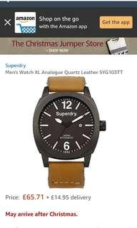 Superdry Watch Leather SYG 1033TT