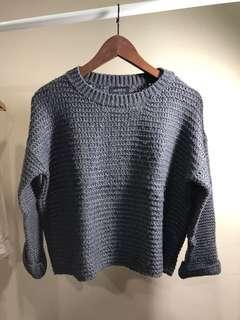 🚚 Meierq莫蘭迪灰色針織毛衣