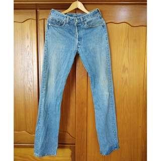 早期 90's 美製 vintage Levi's 501XX W31 L36 古著單寧牛仔褲