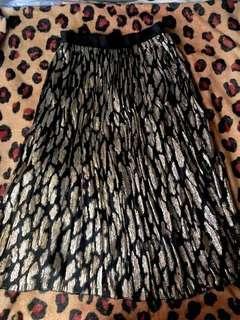 Black and Gold Shimmery Long Skirt