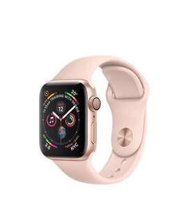 Apple Watch Series 4 Gold Case / Pink Sports Band