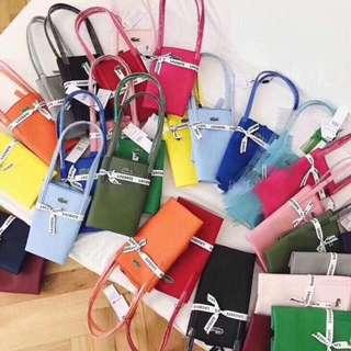 500 each LACOSTE tote bag medium size