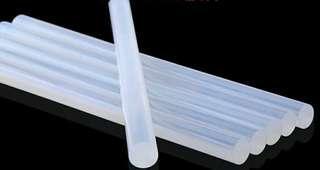 包郵 10支 熱溶 15.5cm 高粘 透明 熱熔 膠棒 7mm 强力 溶膠條 手工製作 家用 熱溶膠槍專用