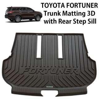 Toyota Fortuner 2016-2018 Trunk Matting 3D Design TPO+LDPE 2MM Thickness Aero Max