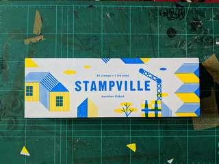 Stampville stamps, 25stamps + 2 ink pads