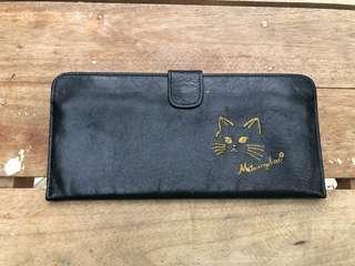 Black slim long wallet