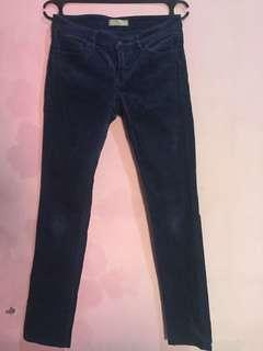 Celana jeans uniqlo beludru