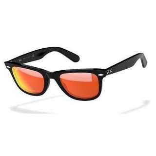Rayban Wayfarer Orange Mirror Lens