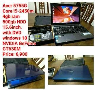 Acer 5755G  Core i5-2450m 4gb