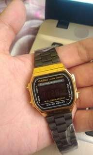 Casio Vintage Digital Watch Gold/Black