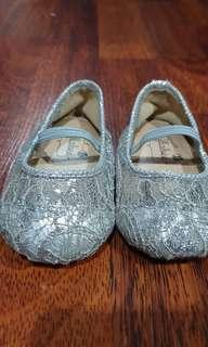 Lullabee baby party silver shoes. Sepatu pesta anak
