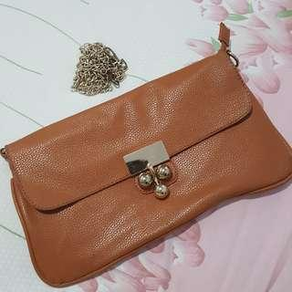 clutch orange + tali panjang