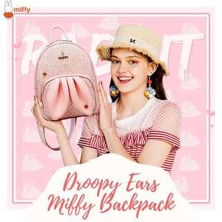Miffy backpack (Droopy bunny ears design)