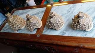 綠釉瓷鐘擺件4件$380,大中細排列