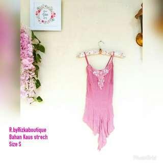 ✔LelangPremium✔ Pink tank top