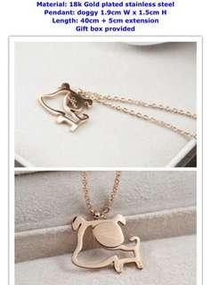 Cute doggy necklace