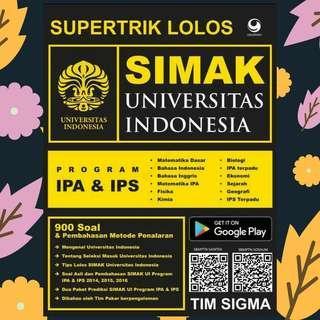 EBOOK PDF SUPERTRIK LOLOS SIMAK UI PROGRAM IPA & IPS