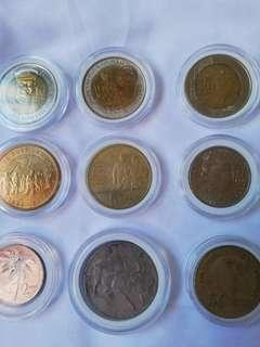 Different coins ang foreign banknotes