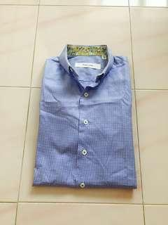 🚚 *$59*BN Coupe-cousu Slim Fit Business Shirt 14.5/37 Gingham