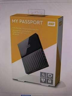 WD Portable Hard disk (My passport 4tb)