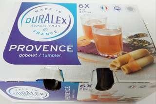 Duralex Provence 3 1/8oz Tumbler set of 6