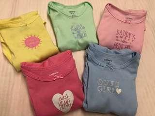 Carter Sweet Baby Bodysuit (5-pc)