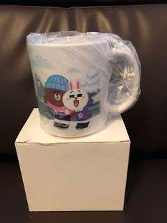 Line Friends 北海道限定杯 coffee cup cafe
