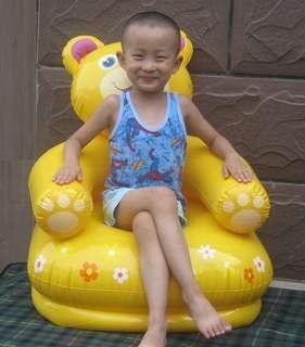 Genuine INTEX fashion comfortable Winnie the bear children inflatable sofa lazy sofa inflatable chair