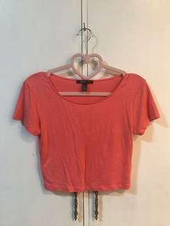 MNG Peachy Pink Cropped Top