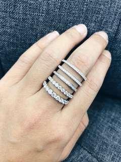 18K750 白金戒指 💍最平只需$2,080